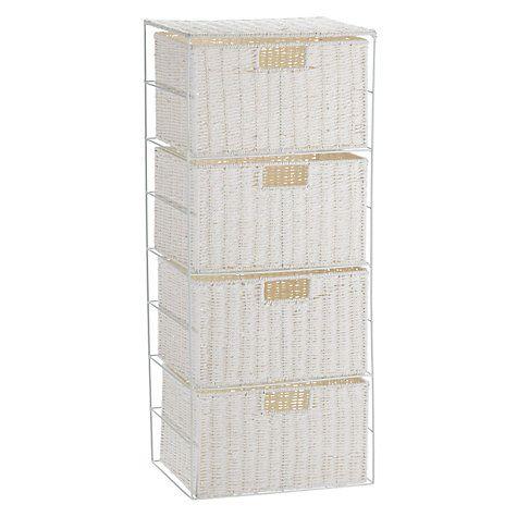 Buy John Lewis Paper Rope 4 Drawer Unit, White Online at johnlewis.com