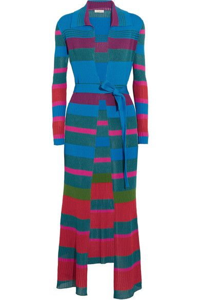 ETRO Striped ribbed-knit cardigan. #etro #cloth #strick
