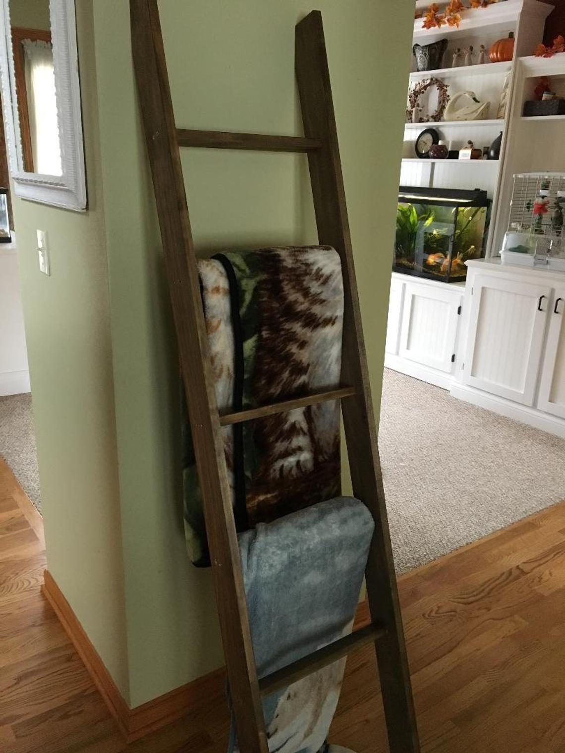 6 foot blanket ladder decorative ladder rustic wood ladder