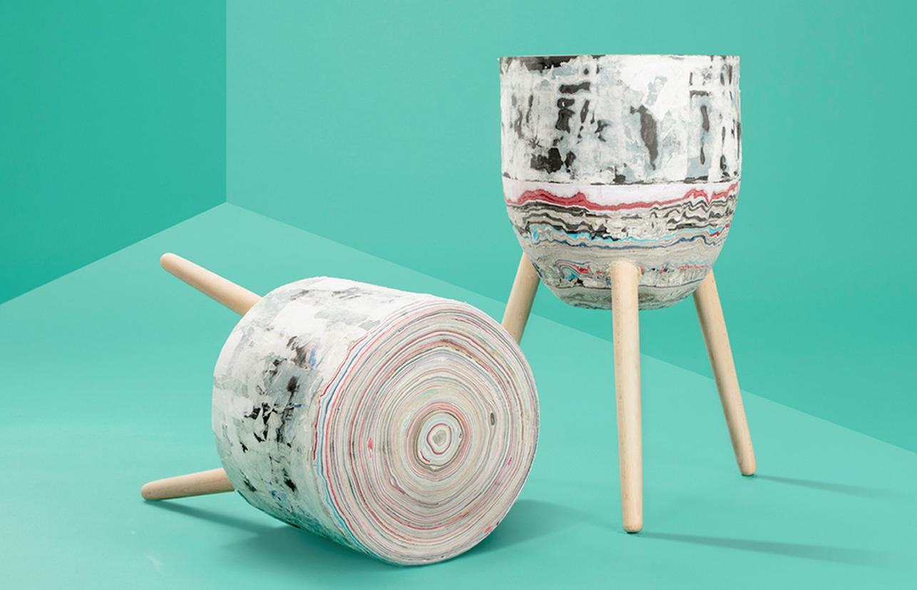 #recycledpaper #stool / by Kateřina Brůhová