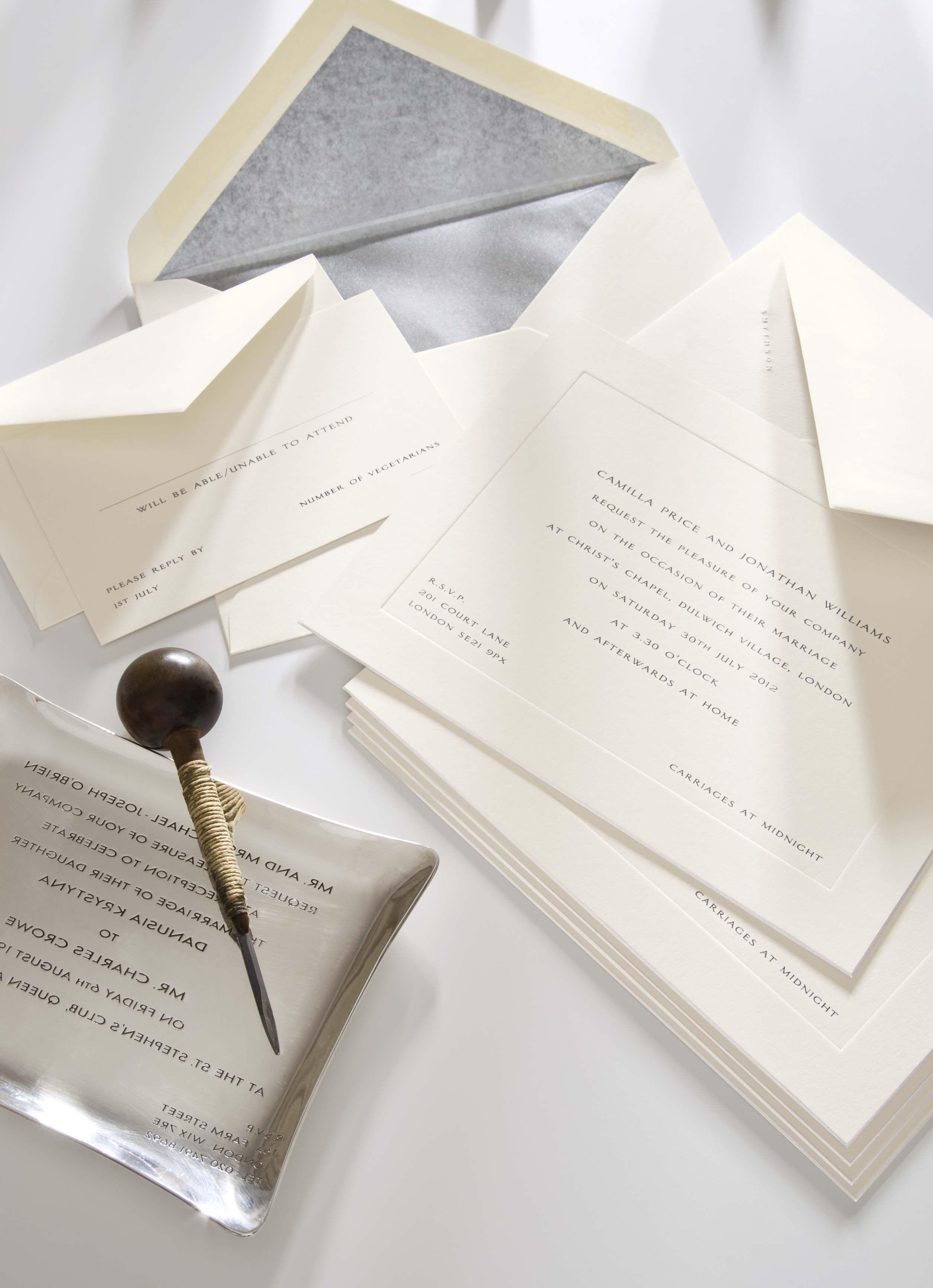 Smythson wedding invites | WEDDINGS Stationery | Pinterest