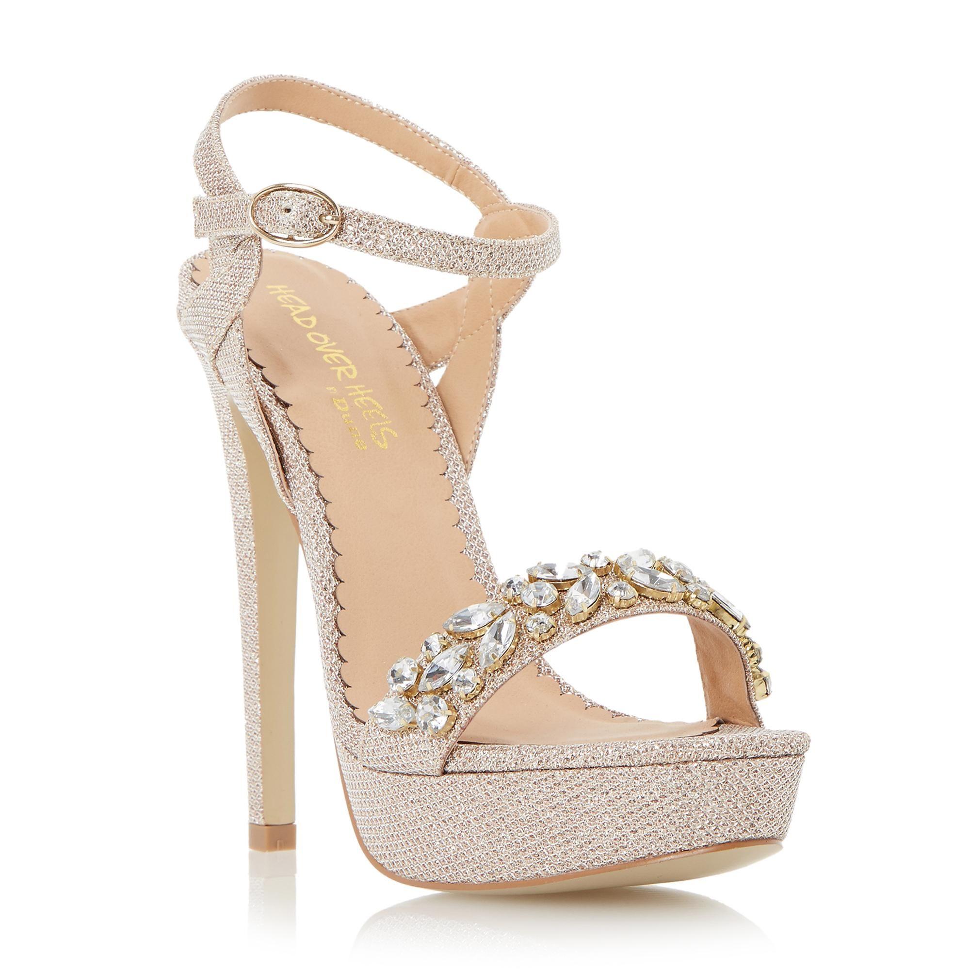 ad0455187 Head Over Heels Ladies MEGARA - Jewelled Platform Sandal - gold ...