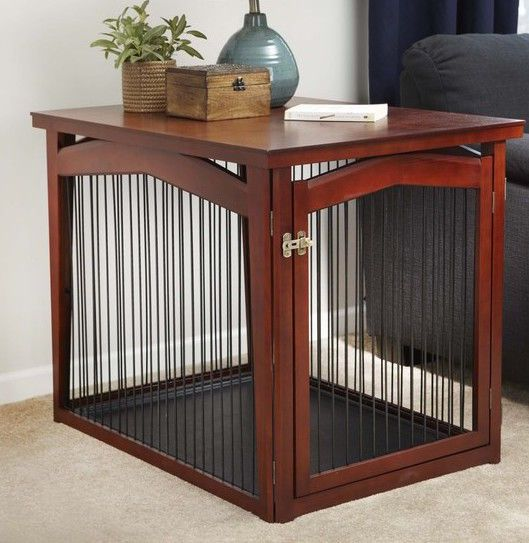 Nice Medium Dog House Kennel Indoor Pet Baby Fence Bed Shelter End Table  Furniture
