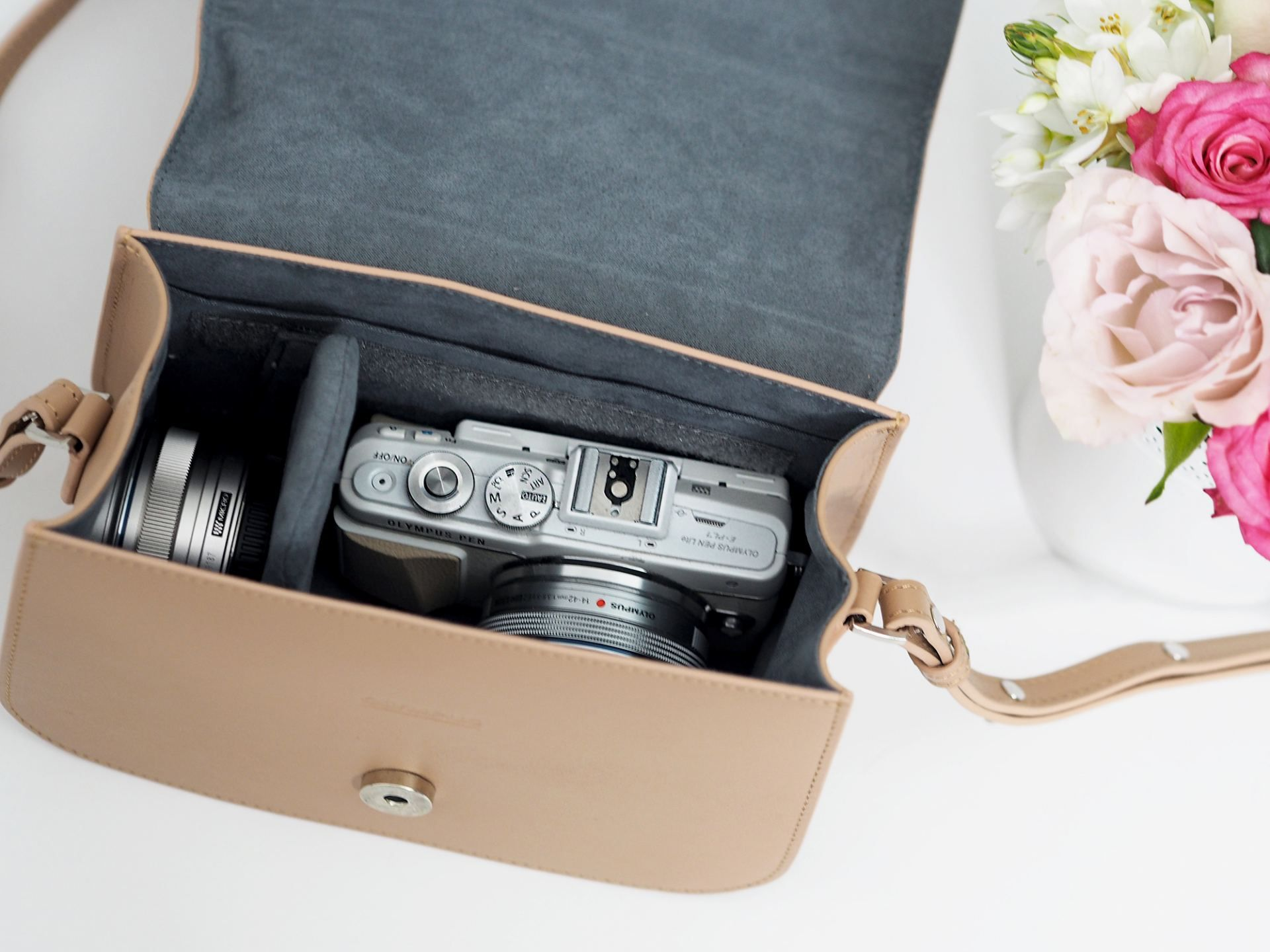 Mirrorless Camera Shoulder Case Bag For Olympus PEN E-PL8 E-PL9 F
