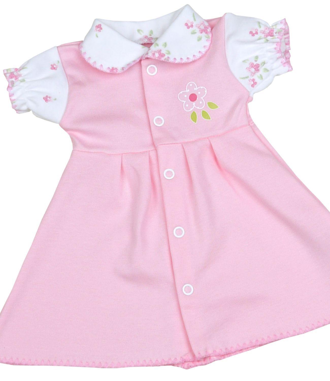 Babyprem prématuré Vêtements Bébé Filles Rose impression vintage robe robes 1.5-7.5lb