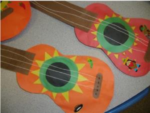Free Guitar Craft Musical Instruments Craft Idea Guitar Crafts