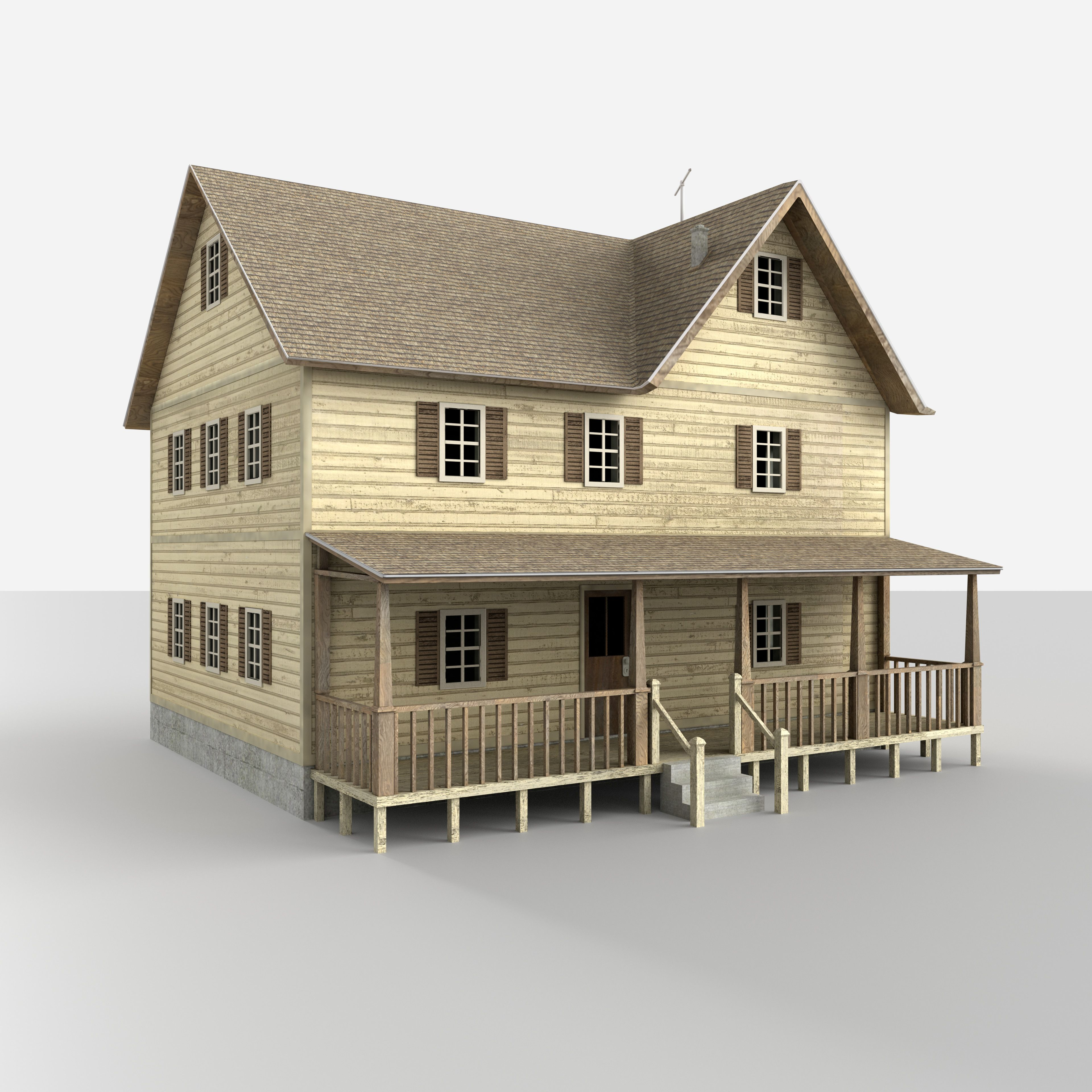 House · 3D Model Rural House Building ...