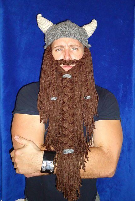 Build a man - with crochet! Hahahahaha!. Free pattern for beard ...