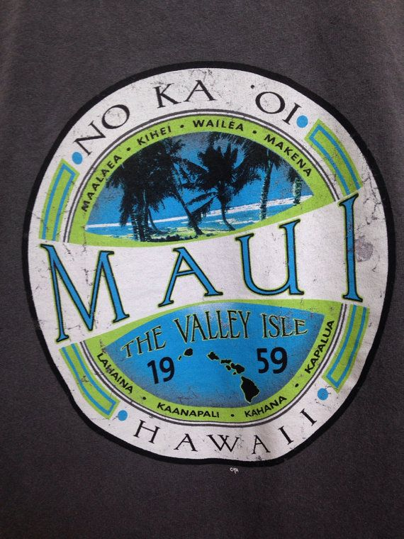 Vintage Maui Hawaii graphic tshirt mens L by twinflamesboutique
