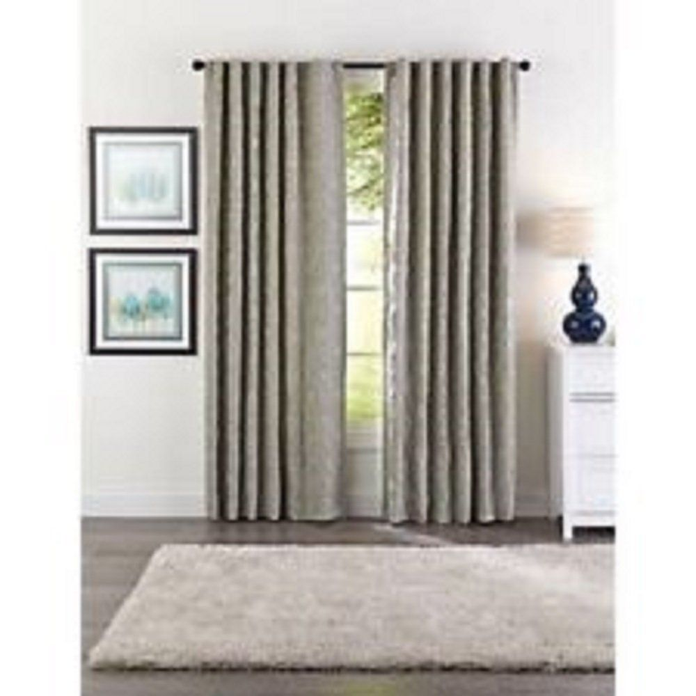 Better Homes And Gardens Taupe And Aqua Ogee Jacquard Window