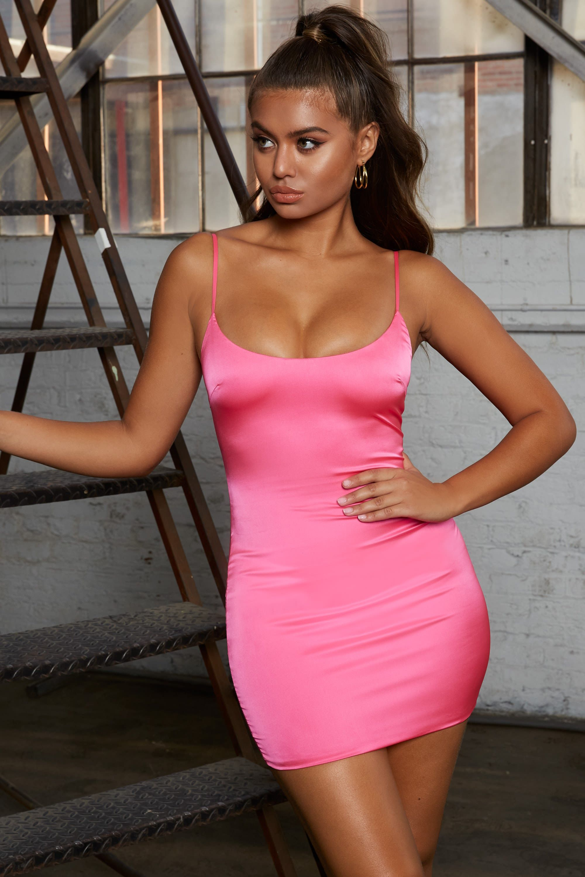 0571d9dade57 Sitting Pretty Satin Mini Dress in Pink | Clothes I Want | Satin ...