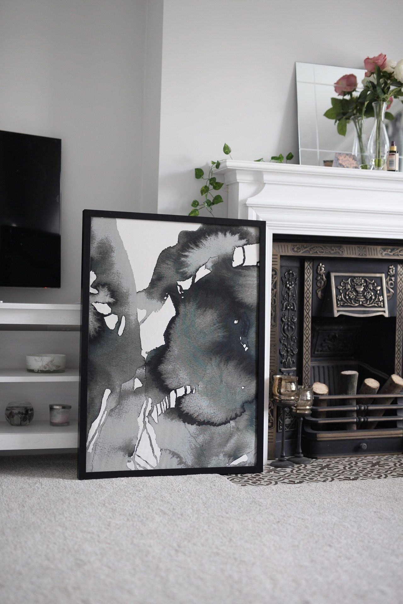 Ikea Nattglim Fabric Diy Wall Art Inredning Ideer Konst