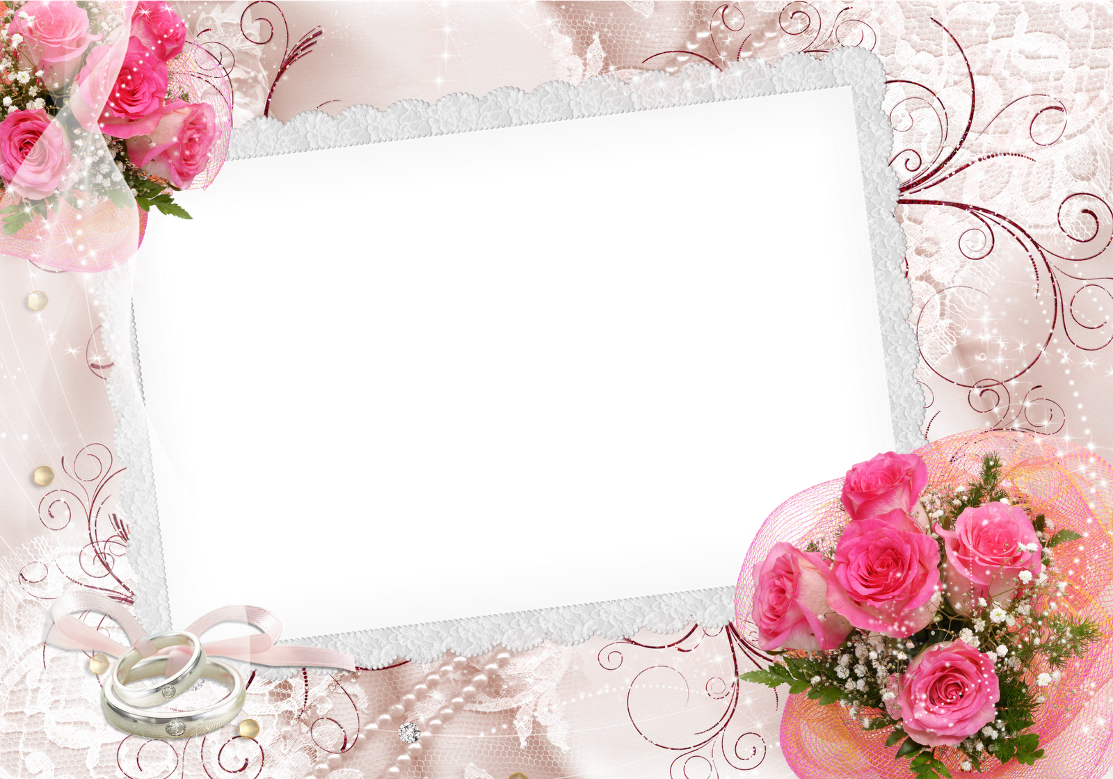 Frame png frames png casamento central photoshop frames over 360 free wedding frames for photomontage online jeuxipadfo Images