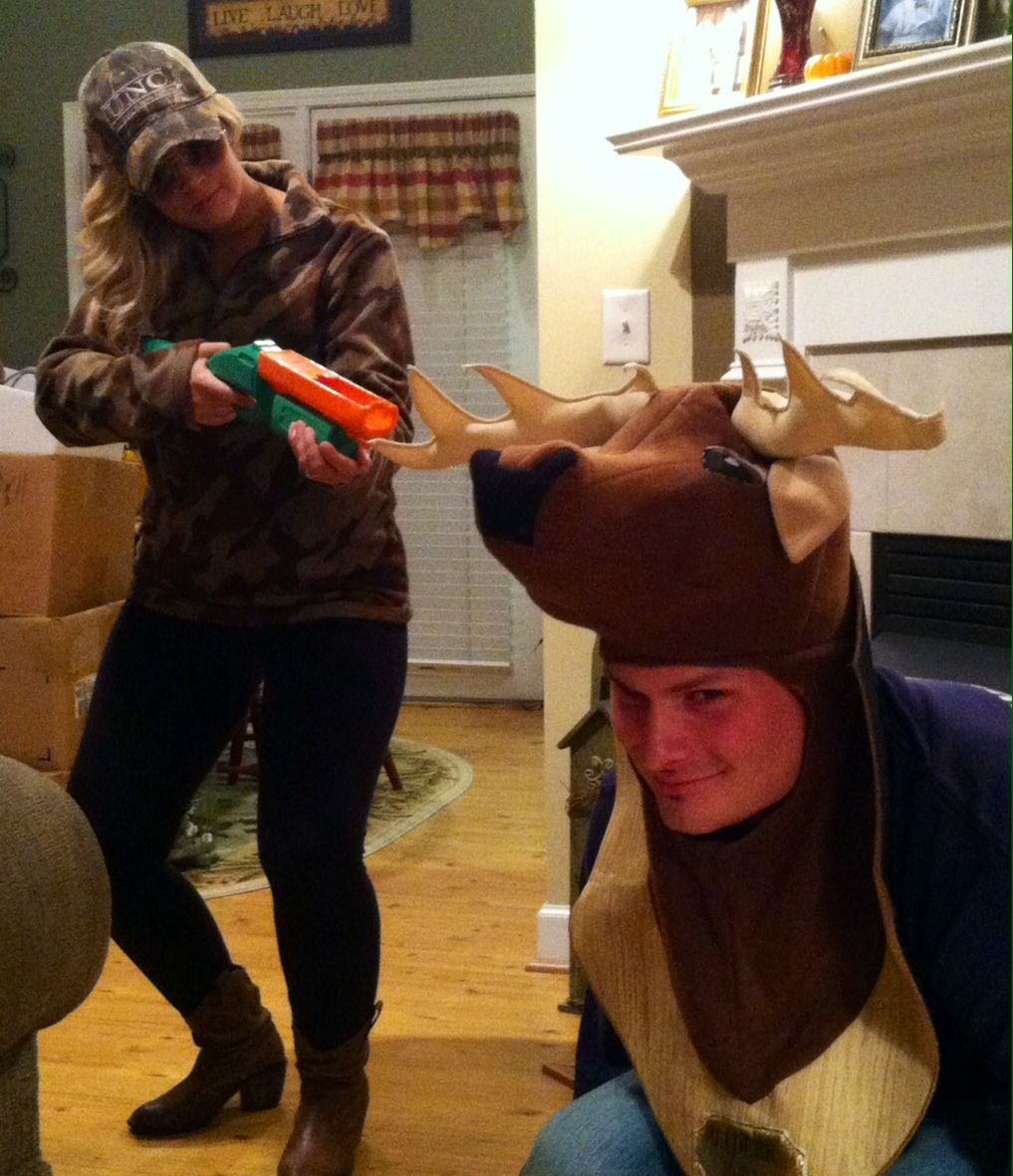 hunter and deer diy couples halloween costume | autumn | halloween