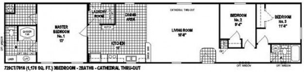 by mobile homes this single wide home floor plan is  also rh in pinterest