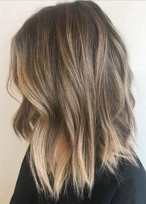 Balayage Frisuren für mittellanges Haar, mittlere Frisur Farbe Ideen, #Balayage #Farbe #Fris...