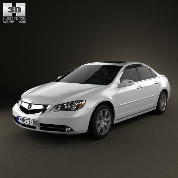Acura RL 2012 3D Model #AD ,#RL#Acura#Model