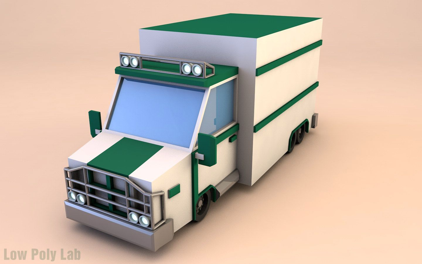 Low Poly Truck Download 3D model | low | Low poly, Low poly 3d