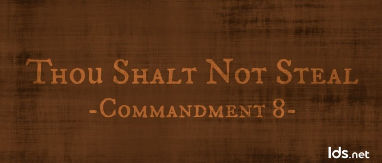 Thou shalt not steal. by Bible @ Like Success