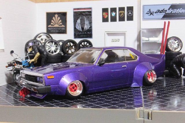 1 24 グラチャンジャパン2枚 紫メタ 完成品 車プラモ製作工房 Zero Factory プラモ グラチャン ミニカー