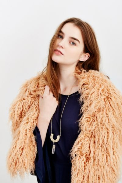 Faux Fur Collar Scarf - Urban Outfitters