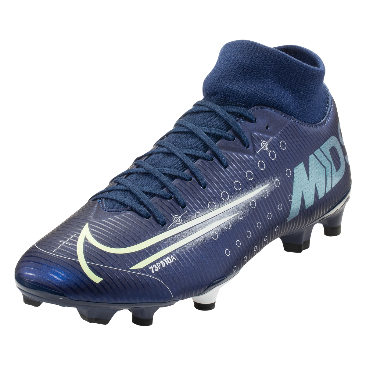 Nike Mercurial Superfly 7 Academy Mds Fg Mg Blue Void Metallic Silver White Black 5 Metallic Silver Superfly Black