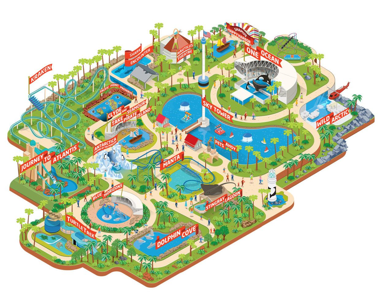 Pin by Society on Design we like | Sea world, Theme park map ...