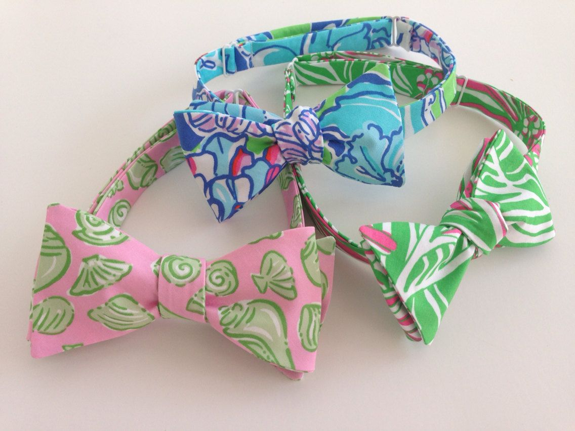1bc861d17885 Lilly Pulitzer Bow Tie by mercystreams on Etsy, $29.00 | prep | Bows ...