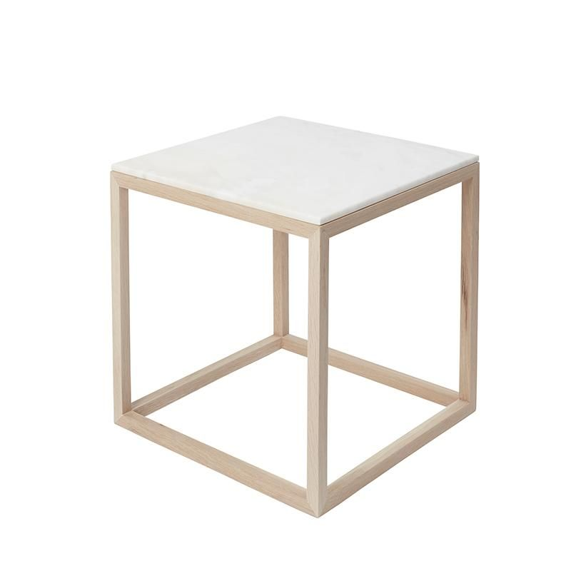 Cube Table Oak Frame Black Marble Top The Cube Tables Are Designed By Kristina Dam Studio The Cube Tables Is The Perfect Choice As A Small Furniture For Th