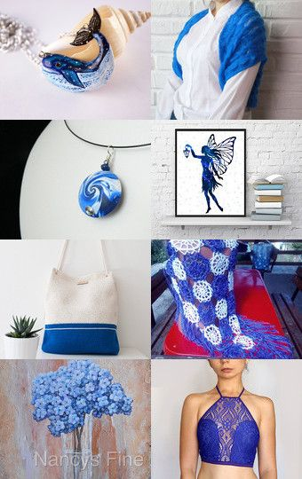 Swirling Blue and White by Tamarah Staschiak on Etsy--Pinned with…