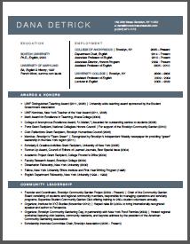 academic cv brooklyn resume studio resumes career - Brooklyn Resume Studio