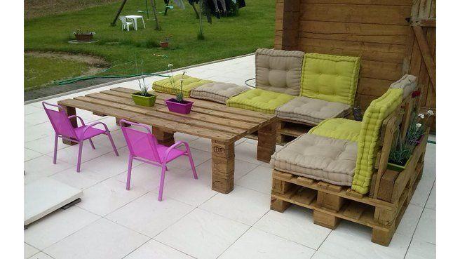 20 ides pour fabriquer un salon de jardin avec des palettes - Fabriquer Son Salon De Jardin Avec Des Palettes
