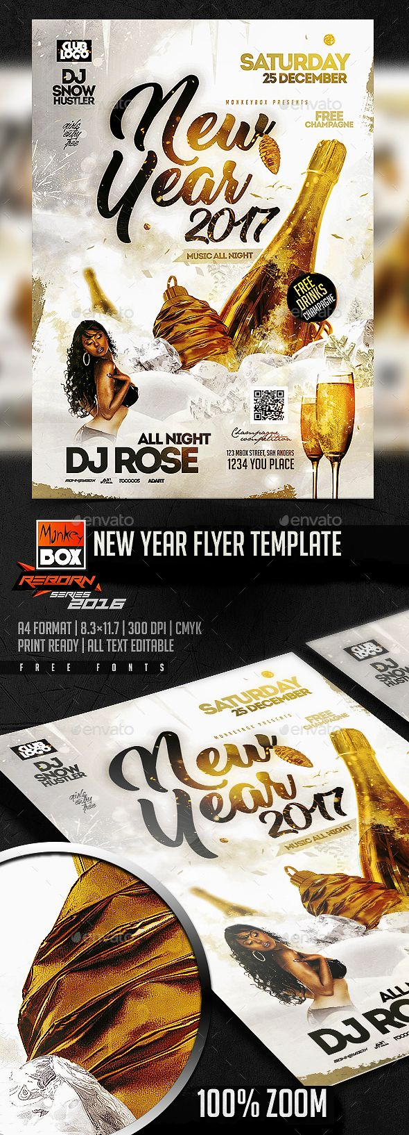 New Year Flyer Template  Flyer Template Flyer Printing And Print