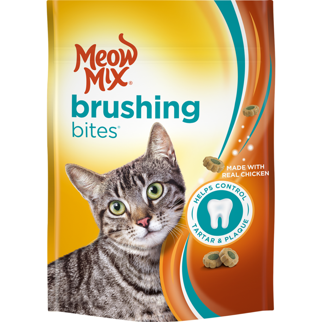 My Favorite Feline Loves Meow Mix Brushing Bites Available At