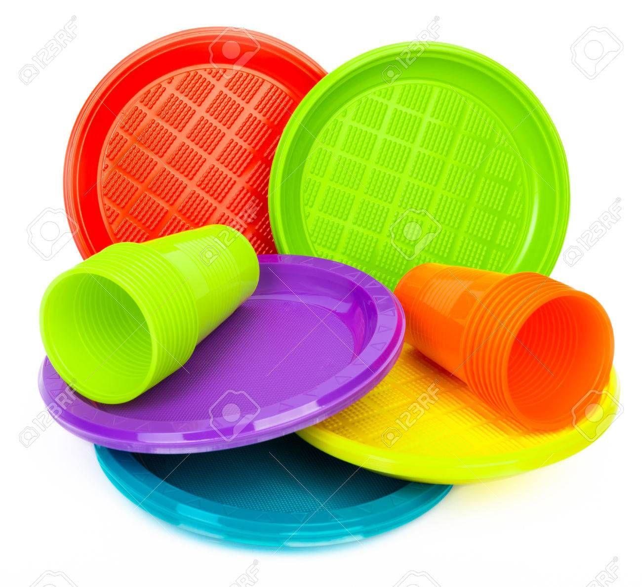 Materiales Platos Y Vasos Desechables De Colores O Blancos