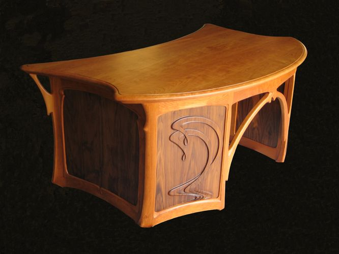 Art Nouveau Desk Lauad Toolid Pinterest Desks Desk - Art deco furniture designers desks