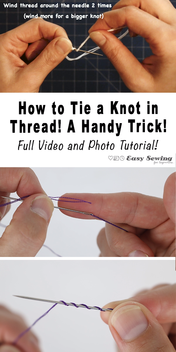 Photo of How to Tie a Knot in Thread! A Handy Trick!