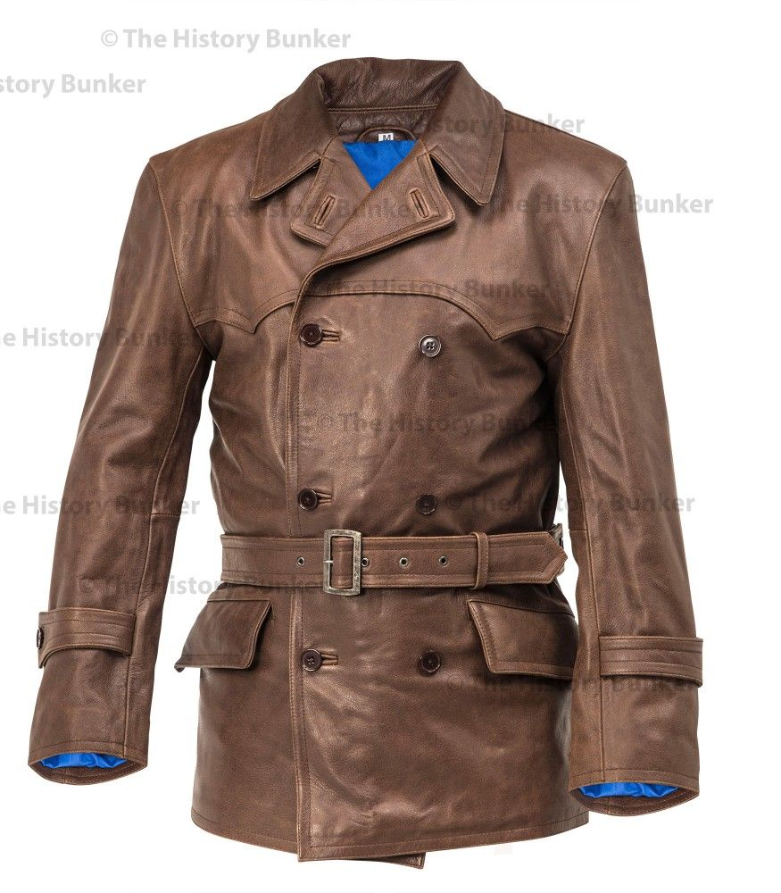 WW1 Imperial German Fighter Pilots leather jacket brown