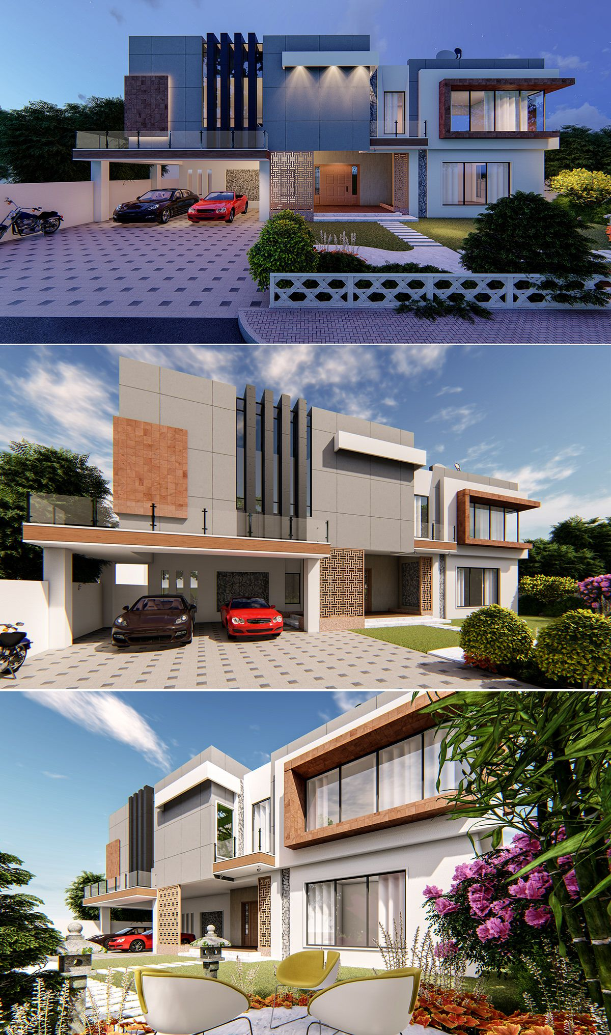 House Exterior on Behance | Village house design, Modern ...