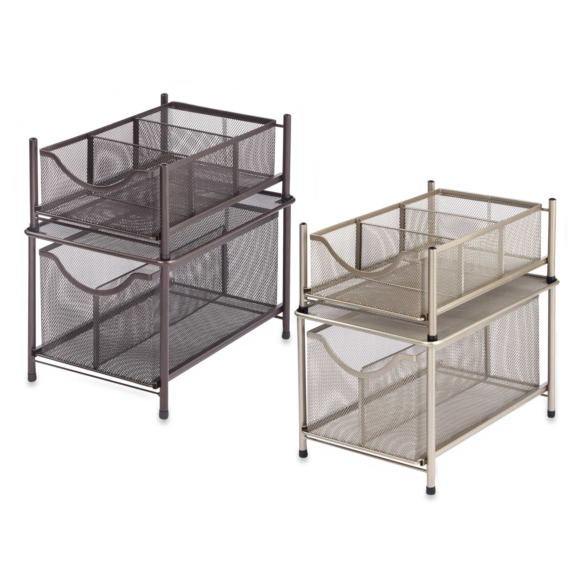Org Under The Sink Mesh Slide Out Cabinet Drawer