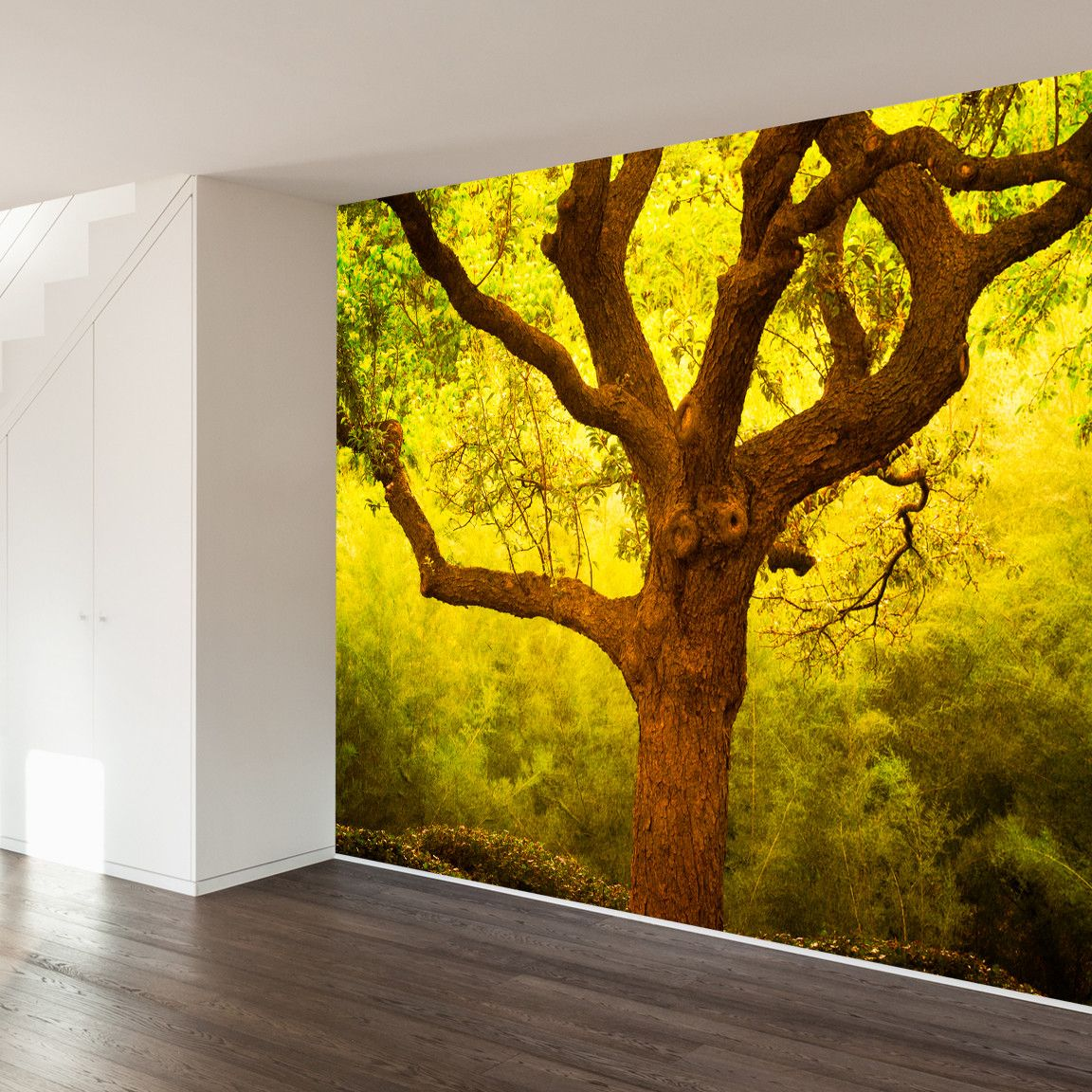 Paul Moore\'s Tree of Life Cantigney Park, IL Mural wall decal ...