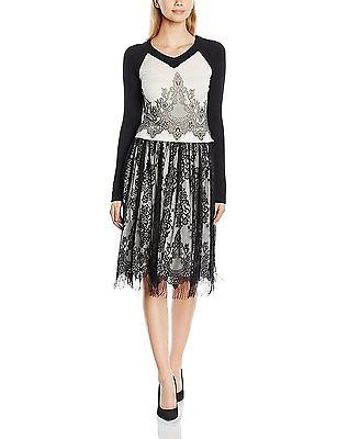 Womens Wide Knitted and Print Dress Tantra 1e0qOoiS8
