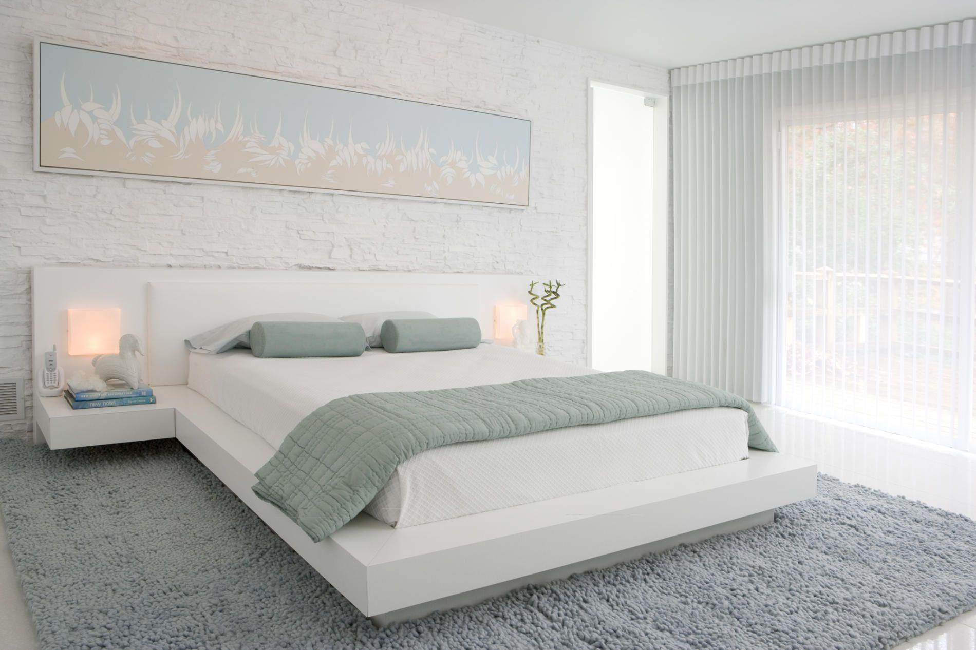 Schlafzimmer Tischleuchten ~ Kleines schlafzimmer helle farben weiß creme tischleuchten