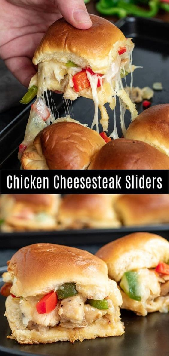 Chicken Cheesesteak Sliders