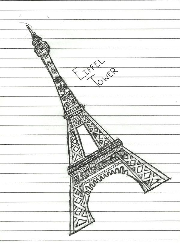 70 Easy And Beautiful Eiffel Tower Drawing And Sketches Art