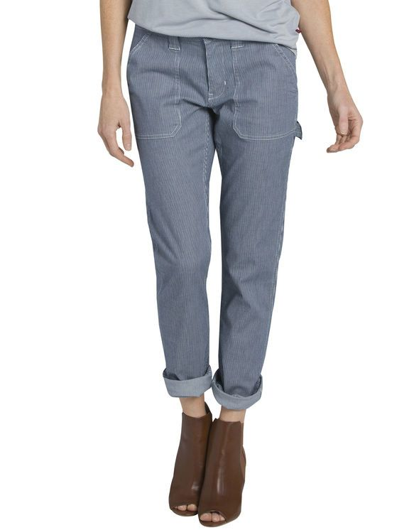 Women S Heritage Destroyed Hickory Striped Carpenter Pants