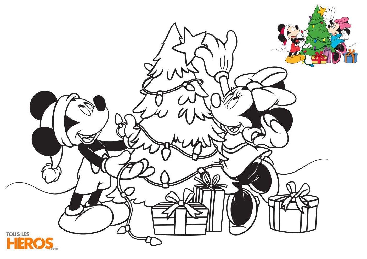 Coloriages Mickey Et Minnie Spécial Noël Gratuits Sur Le Blog De