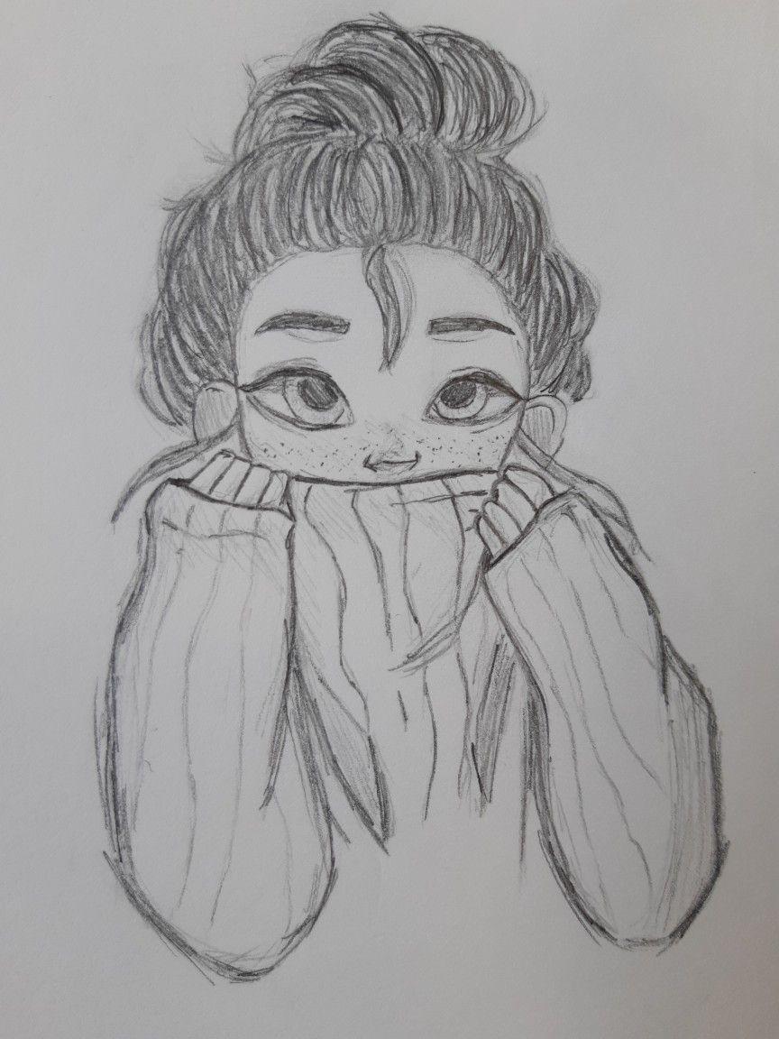 Disegno A Matita Di Una Ragazza Girl Pencil Draw Schizzi D