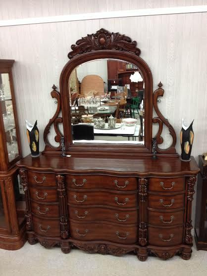 Large solid wood 12 drawer french style by TheSalvageJunkies, $599.00