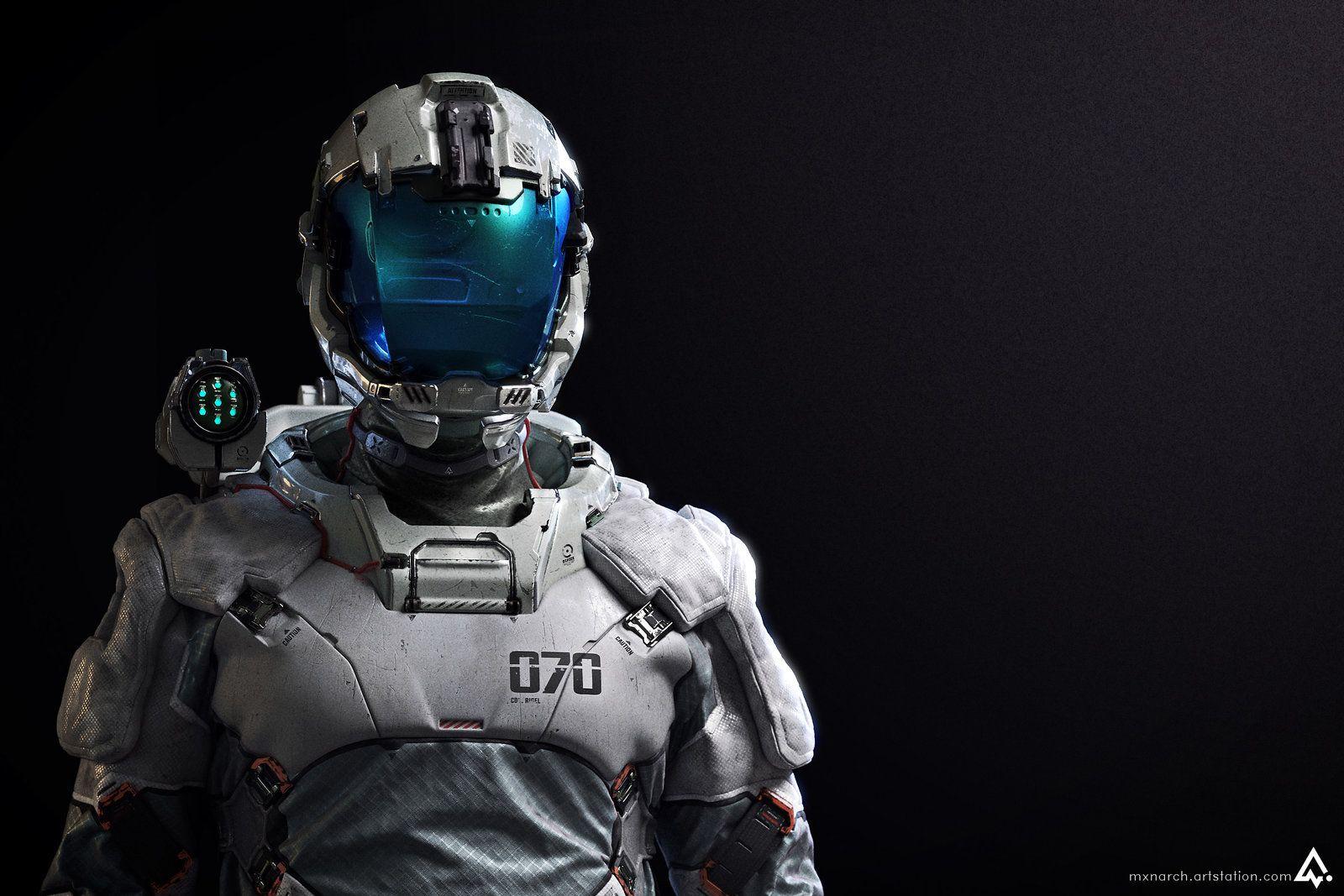 Col. Rigel (Lightweight EVA suit) Detail Shots, Chris Chui on ArtStation at https://www.artstation.com/artwork/col-rigel-eva-suit